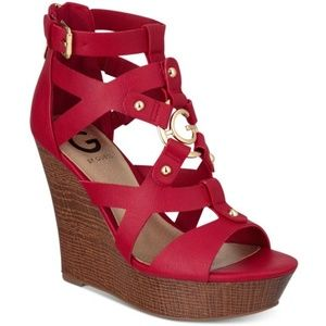 G by Guess Red Wedges